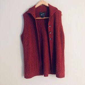 Women's Woolrich Lambs Wool Sweater Vest-Size XL